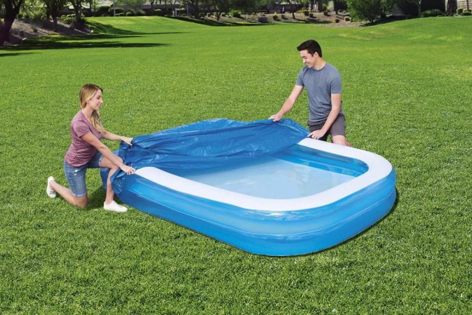 Navlaka za bazen, Pokrivač za bazene 262x175 centimetara. Ovaj pokrivač za bazene odličan je dodatak za vaš vrtni bazen, pomaže u očuvanju čistoće vašeg bazena.