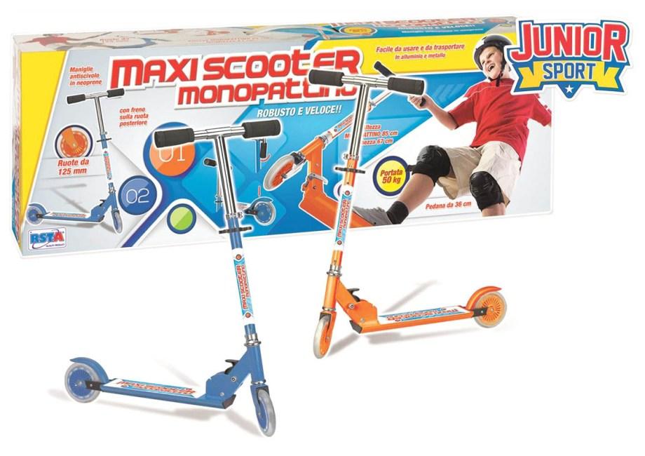 Romobil za djecu od aluminija i metala, Maxi Scooter. Ovaj romobil izrađen je od metala i aluminija, lagan je za korištenje i nošenje.