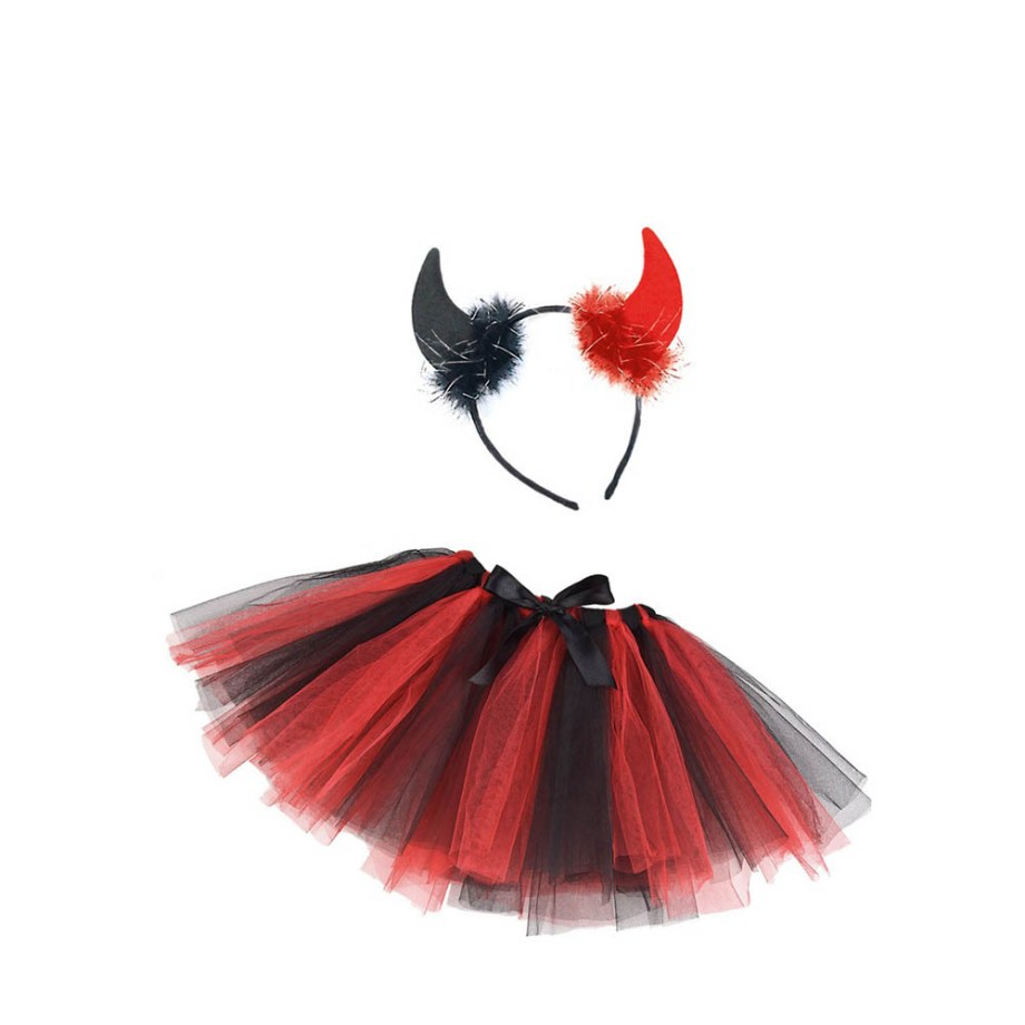 Dječji karnevalski kostim, set za vražicu. Savršen je za lude partije, proslave Halloweena ili karnevalske povorke.