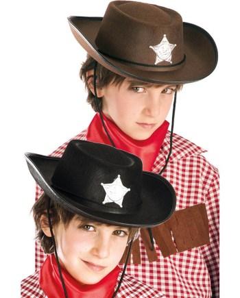 Dječji karnevalski šešir za Cowboya od filca. Savršen je za maskiranje, lude partije, proslave Halloweena ili karnevalske povorke.