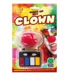 Karnevalska šminka sa nosom za Clowna. Savršena je za maskiranje, lude partije, proslave Halloweena ili karnevalske povorke.