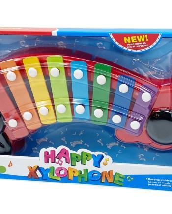 Dječji ksilofon Multicolor 8 nota sa 2 udaraljke. Šareni, veseli dječji ksilofon sa 8 šarenih nota i 2 udaraljke. Za svu djecu koja vole muziku i muzičke instrumente.
