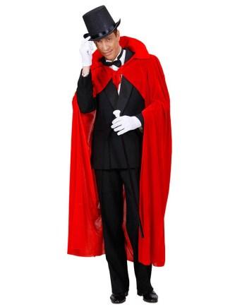 Plašt crveni od baršuna, karnevalski kostim. Savršen je za lude partije, proslave Halloweena ili karnevalske povorke.
