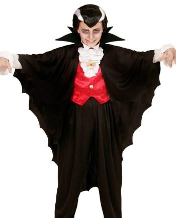 Plašt za vampira, crni, karnevalski kostim. Savršen je za lude partije, proslave Halloweena ili karnevalske povorke.