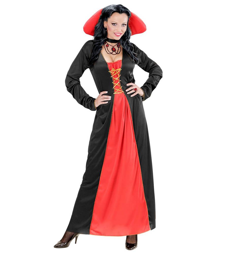 Vampirica, kostim za karneval za odrasle, veličina L. Savršen je za lude partije, proslave Halloweena ili karnevalske povorke.