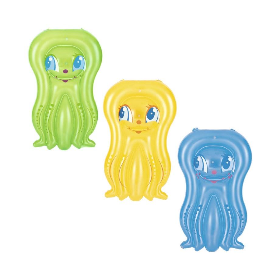 Mini madrac na napuhavanje Hobotnica, Bestway. Dječji madrac na napuhavanje u obliku simpatične i vesele Hobotnice. Dolazi u 3 boje: plavoj, žutoj i zelenoj.