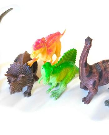 Dinosauri u vrećici, 6 komada, Jungle Dinosauri. Plastični dinosauri u vrećici, veličine od 15 do 18 centimetara.