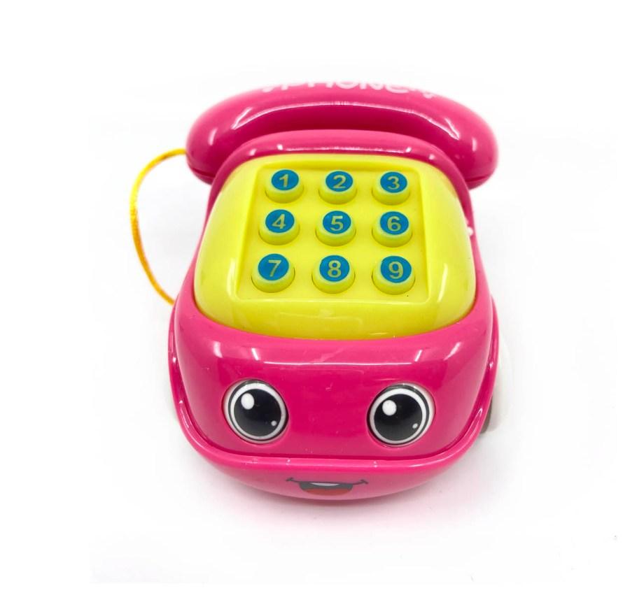 Telefon na baterije za bebe, sa zvukom i svjetlom. Prekrasni telefon na baterije u 3 boje. Telefon proizvodi melodije, zvukove zvonjave, te svijetli.