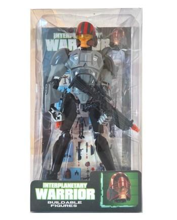 Vojnik Warior rastavi - sastavi, sa oružjem 30cm. Igračka vojnik koji veličine 30 centimetara, može se sastavljati i rastavljati. U pakiranju dolazi vojnik sa kacigom, laserskim pištoljem i puškom.