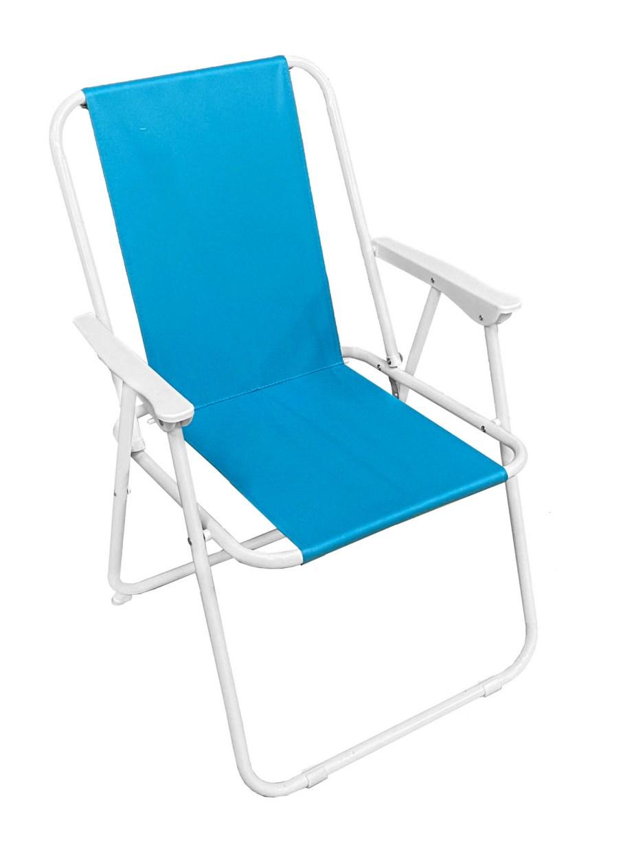 Sklopiva stolica za plažu i kampiranje, Udobna stolica koja se može sklopiti i nositi po potrebi do plaže jer je teška samo 3 kilograma.