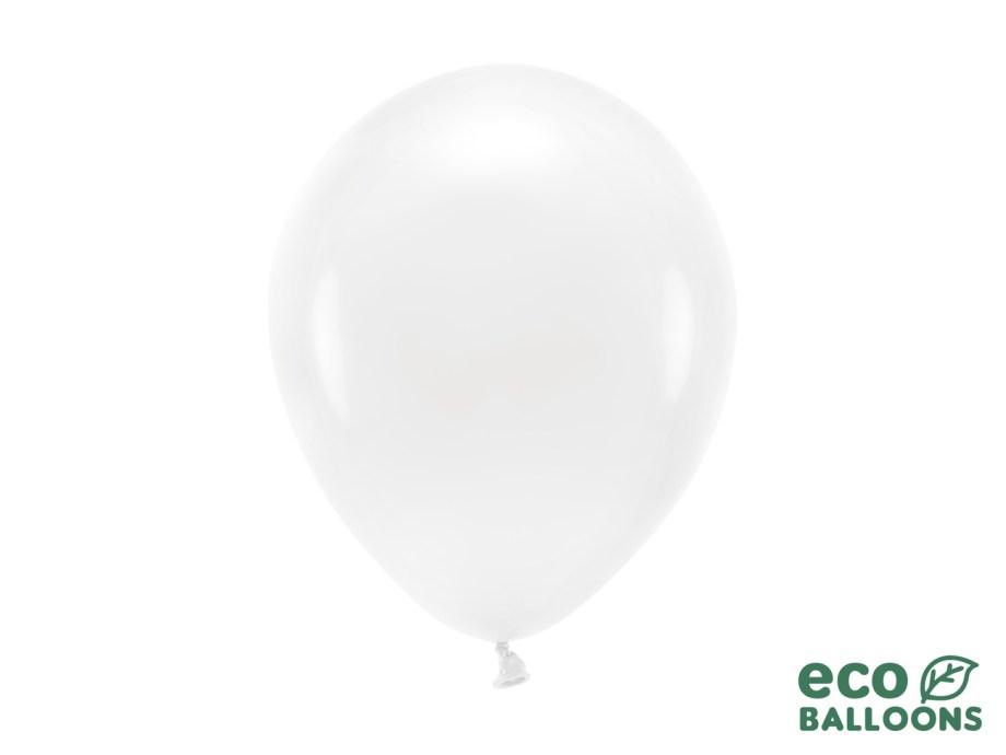 Baloni bijeli 10 komada veličina 26cm. Baloni su proizvedeni od prirodnog biorazgradivog lateksa, sigurni su i laboratorijski ispitani.