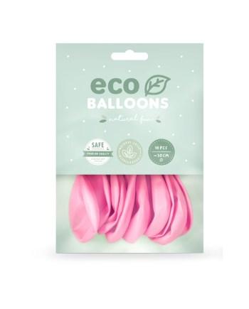 Baloni rozi 10 komada veličina 26cm. Baloni su proizvedeni od prirodnog biorazgradivog lateksa, sigurni su i laboratorijski ispitani.