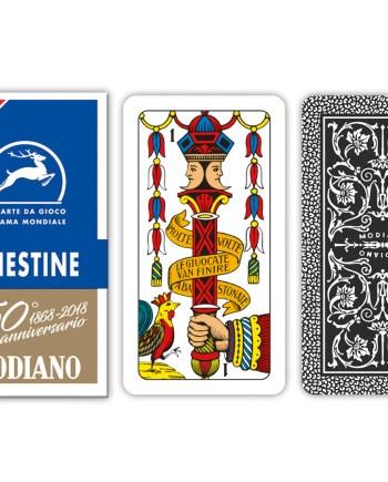 Igraće Karte Triestine Modiano. Igraće karte za briškulu i trešete Modiano. Kvalitetne plastificirane karte za briškulu i trešete, 100% made in Italy. Za sve ljubitelje kartaških igara.