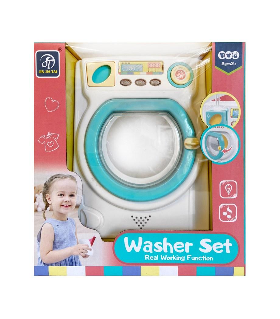 Dječja perilica rublja, Igračka veš mašina na baterije za djecu. Prekrasna igračka za male kućanske poslove, proizvodi zvuk i svjetlo te okreće bubanj.