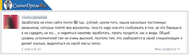 Отзыв о сайте Воркзилла