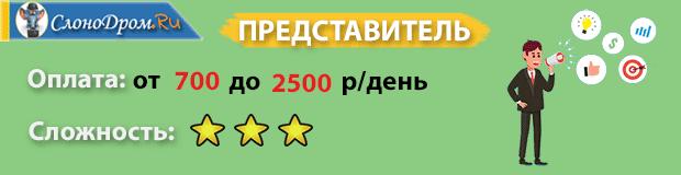 Дополнительная подработка - представитель
