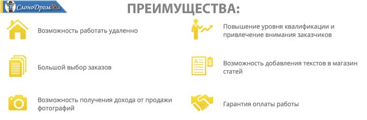 Преимущества биржи Etxt,ru