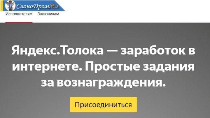 Регистрация на Яндекс Толока