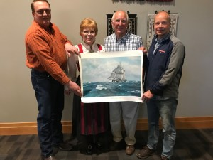Sloopers present Livsreise with a print of the Restauration