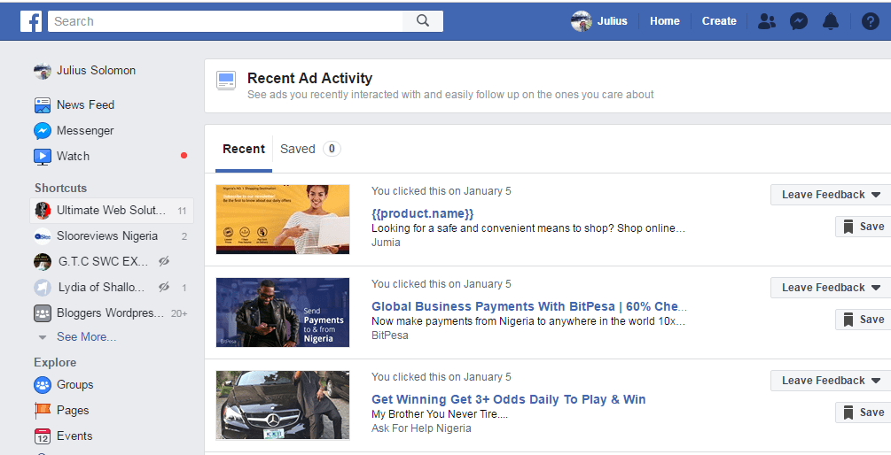 how to recheck facebook ads