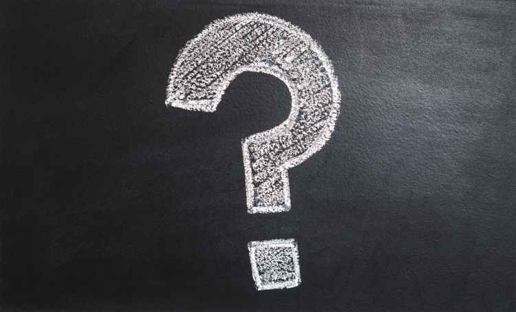 question mark written on a chalk board