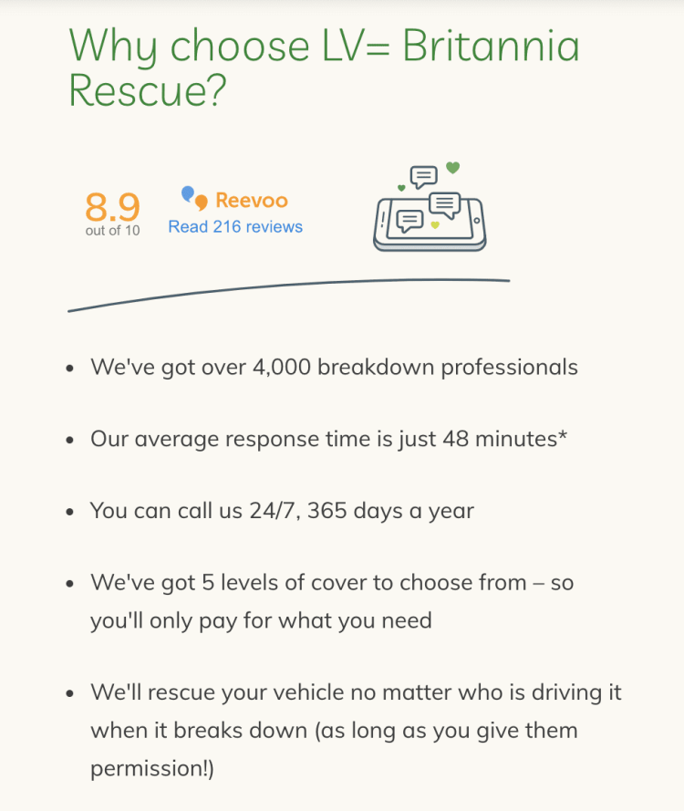Why use LV=britania rescue