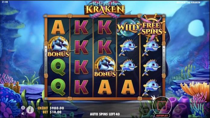 Release the Kraken by Pragmatic Play Gameplay