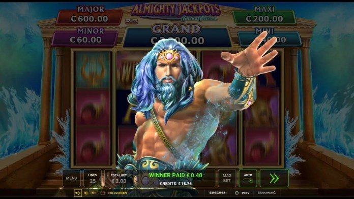 Almighty Jackpots Realm Of Poseidon by Greentube/Novomatic Gameplay