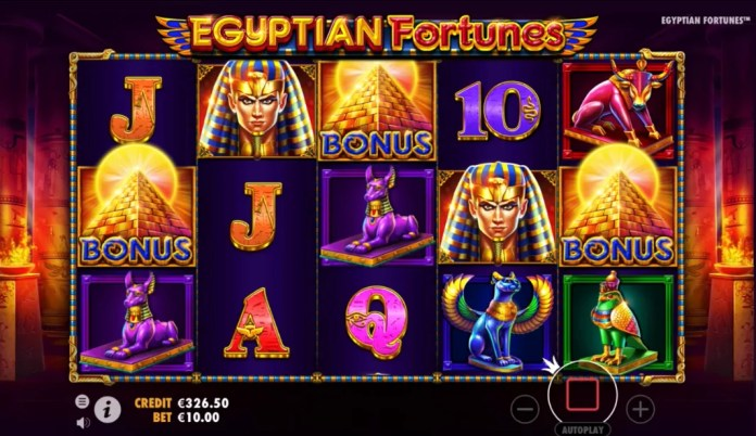 Egyptian Fortunes by Pragmatic Play Gameplay