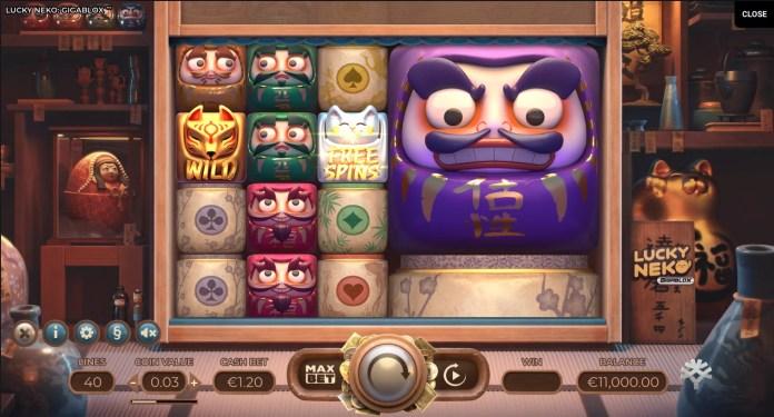 Lucky Neko Gigablox gameplay by Yggdrasil
