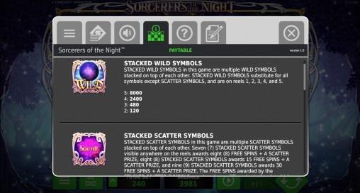 Игровой автомат Sorcerers of the Night