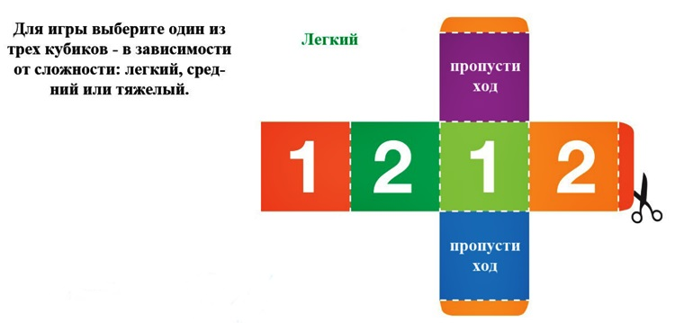 Кубик для настольных игр своими руками