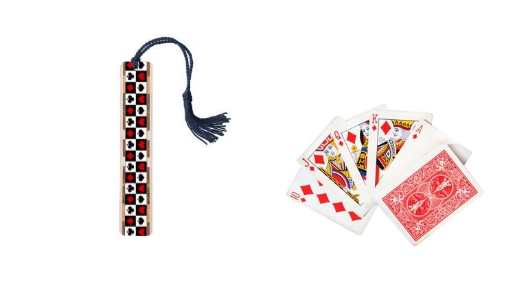 Закладки для книг своими руками из игральных карт
