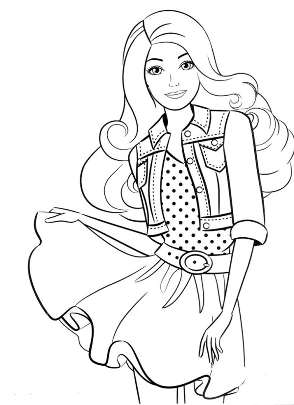 Распечатать Барби раскраска для девочек slotObzorcom