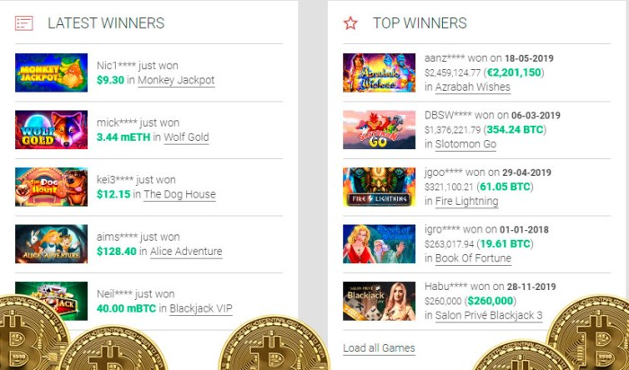 Bitcoin casino games free to play online