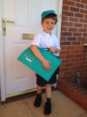 Isaac's first day of school