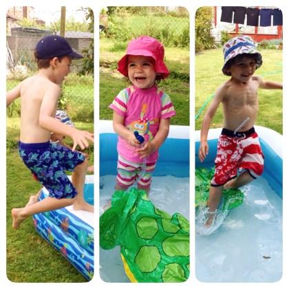 Paddling pool triptych
