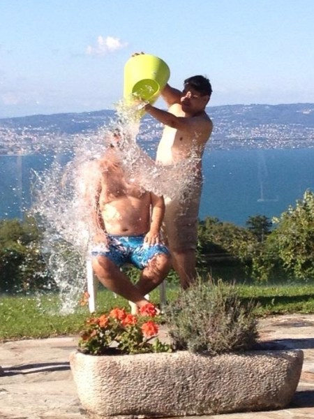 Administering the ice bucket challenge
