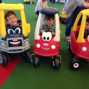 Butlins kids Little Tikes cars