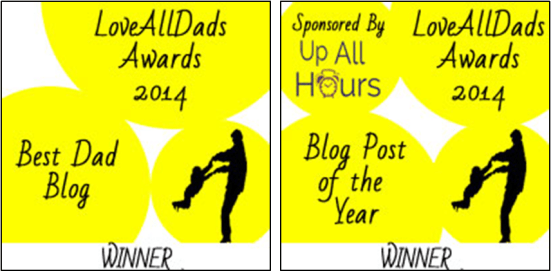 LoveAllDads Awards winner tandem logo