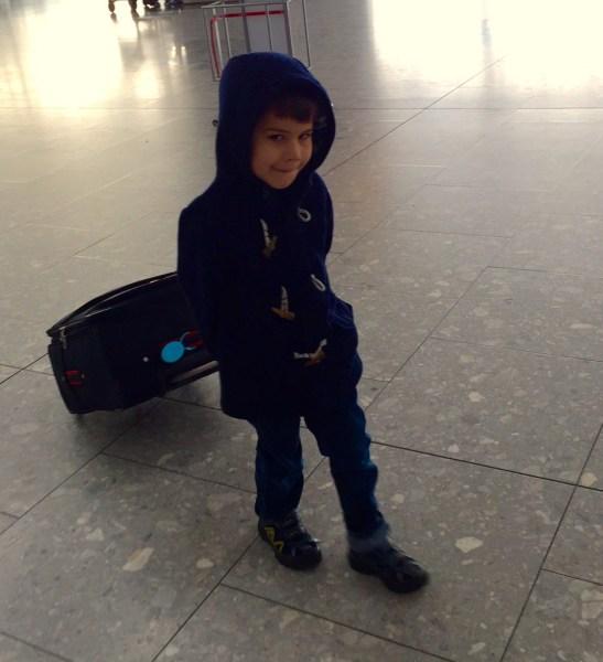 Toby arriving from Darkest Peru