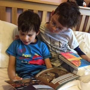 Issac and Toby reading