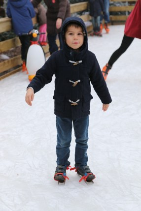 Toby ice skating