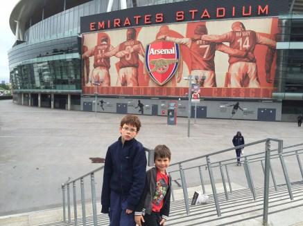 Isaac Toby outside Emirates Stadium