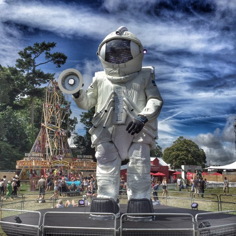 Camp Bestival giant astronaut