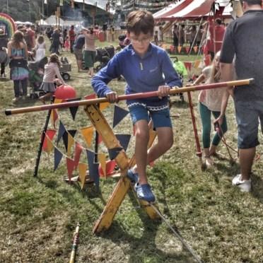 Camp Bestival Isaac tightrope walk