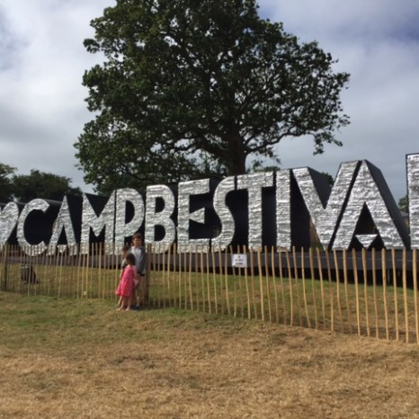 Camp Bestival sign closeup