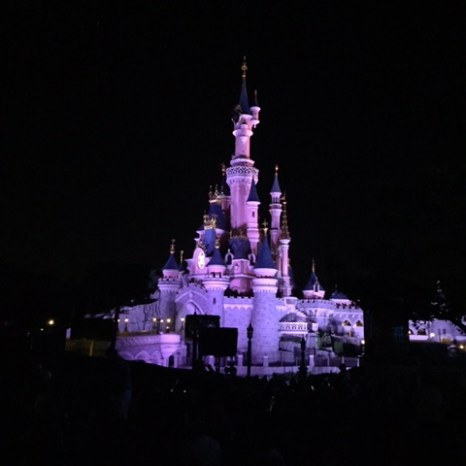 Disneyland Paris castle night
