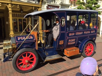 Disneyland Paris police wagon
