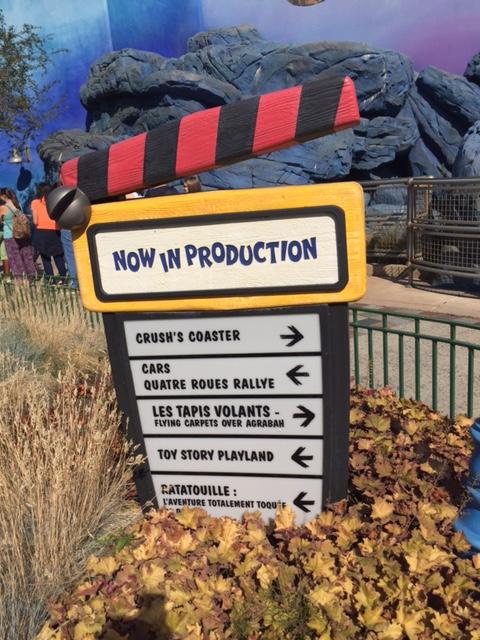 Disneyland Paris Sign Slouching Towards Thatcham